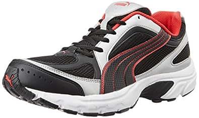 Puma Men's Ceylon II Ind. Black-Pu Silver-Hi Risk Red Running Shoes - 10UK/India (44.5EU)