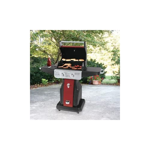Amazon.com : Uniflame 20, 000 BTU 2 Burner Patio Gas Grill, Red Sedona