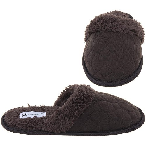 Cheap Harve Benard Brown Slip On Slippers for Women (B006CVS9UE)