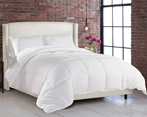 White Goose Down Alternative, Ultra Plush, Box Stitched Hypoallergenic Soft Fabric Comforter / Duvet Cover - King, Queen, XL Twin (Single Duvet Insert compare prices)