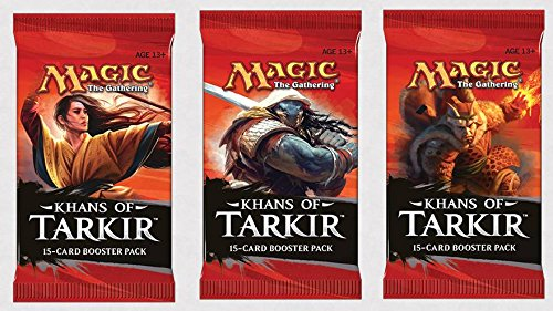 3 (Three) Packs of Magic: the Gathering - MTG: Khans of Tarkir Booster Pack Lot (3 Packs) - 1