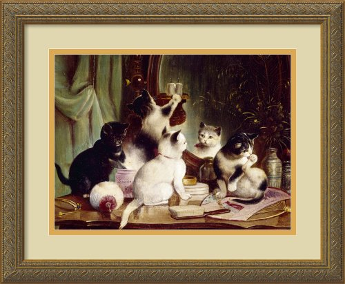 Kittens On The Vanity Table, By J. Hartung Framed front-719301