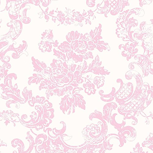 Coloroll-M0756-Papel-pintado-diseo-floral-vintage-color-rosa