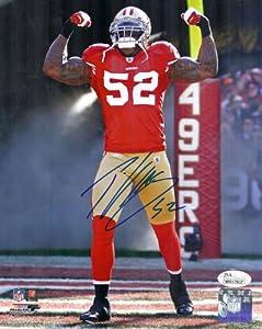 Patrick Willis Autographed San Francisco 49ers 8x10 Photo (smoke) w JSA by DenverAutographs