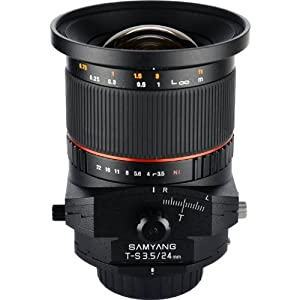 Samyang Tilt-Shift SYTS24-C 24mm f/3.5 Tilt Shift Lens for Canon