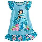 Disney ディズニープリンセス ジャスミン 半袖 ナイトドレス ネグリジェ ワンピース (サイズ5/6:約114-122cm 17-23kg)