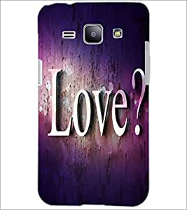 PrintDhaba Love Quote D-2814 Back Case Cover for SAMSUNG GALAXY J1 (Multi-Coloured)