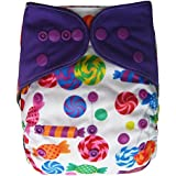Charcoal Bamboo AIO All In One Cloth Diaper with Pocket (Candy)