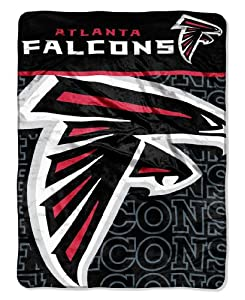 NFL Atlanta Falcons Micro Raschel Throw Blanket, 46 x 60-Inch by Northwest