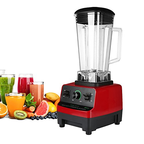 Commercial Blender HANMEIUS Smoothie Power Blender High Professional Performance Processor Mixer Nutrition Blender for Ice, Vegetable and Fruit (Smoothie Blenders Commercial compare prices)