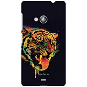 Design Worlds - Nokia Lumia 535 Designer Back Cover Case - Multicolor Phone...