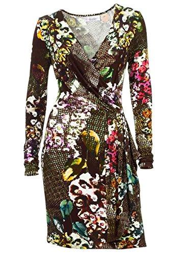 Linea Tesini Damen-Kleid Druckkleid Mehrfarbig Größe 38