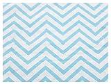 """PrettyurParty Chevron Paper Napkins (13"""" x 13"""") - Blue"""