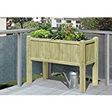 Hochbeet Kräuterbeet aus Holz 109x46x80 mit Pflanzkasteneinsatz von Gartenpirat®