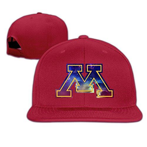 NORAL Flat Bill Baseball University Of Minnesota Caps Red (Colt Mascot Costume)