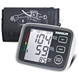 WARMLIFE Automatic Digital Upper Arm Blood Pressure Monitor with Cuff that fits Standard and Large Arms, FDA Approved (Black)
