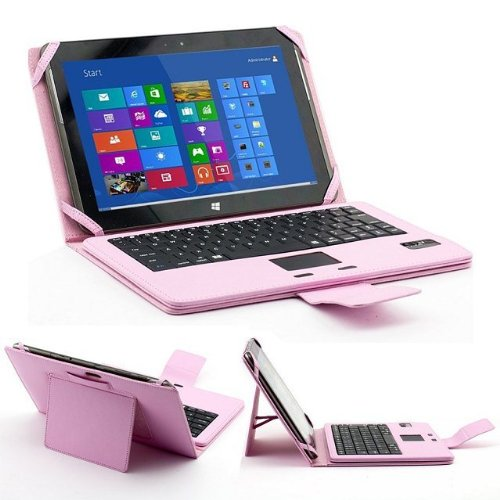 Etopxizu Detachable Removable Folding Wireless Bluetooth Keyboard Pu Leather Stand Case Cover Mouse Touchpad For Microsoft Surface Rt /Pro 1 &2 Win8 Windows 8 Tablet Pink