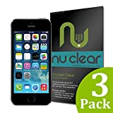 [3-Pack] Apple iPhone 5 / 5S / 5C Screen Protector by Nu-Clear – Military-Grade w/ Lifetime Warranty – HD Shield Ultra Clear Reviews
