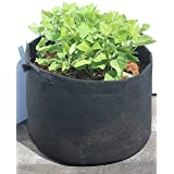 dynaPOT 45 Gallon Garden Planting Aeration Fabric Container & Grow Pots, Black, 27x18 inch