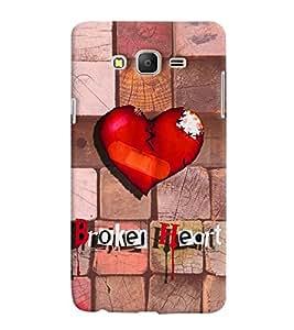 PrintVisa Romantic Love Broken Heart 3D Hard Polycarbonate Designer Back Case Cover for Samsung Galaxy On 5