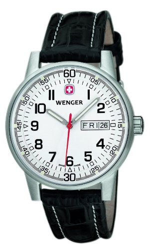 Wenger 'Commando' White Dial Day Date Watch