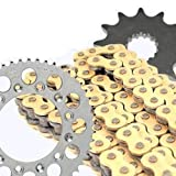 GOLD X-Ring Chain and Sprocket Set Kit KAWASAKI EN500 C1,C2 Classic 96-97