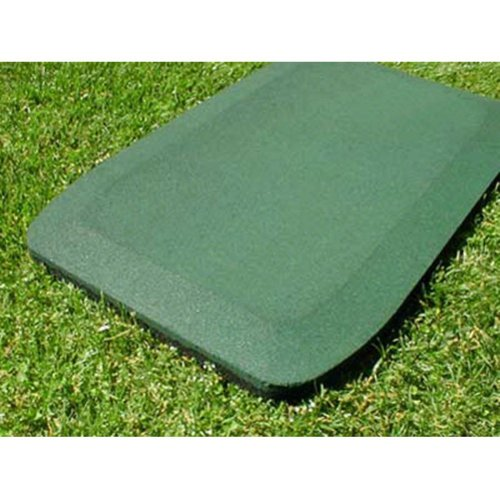 Kidwise 1.5 Inch Fanny Pads - Green Rubber Wear Mats (Set Of 2) back-583580