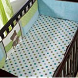 Kids Line Crib Fitted Sheet, Toyland (Discontinued by Manufacturer)