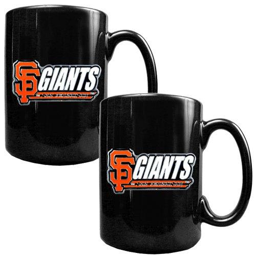 San Francisco Giants Mlb 2Pc Black Ceramic Mug Set
