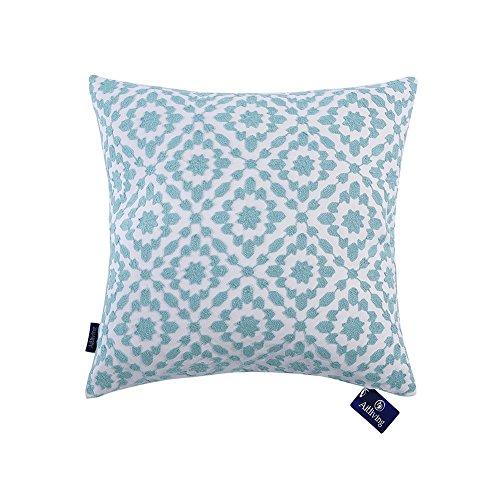 Aitliving Cushion Cover Decorative Pillow Cases Cotton Canvas Trellis Mina Decorative Throw Pillow Cover Sky Blue 1 pc 20x20 inches(50x50cm)