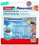 tesa Powerstrips Deco-Haken, transpar...