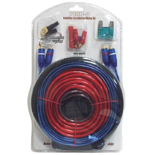 Pyramid Pbin3 1000 Watt 20 Feet Amplifier Installation Wiring Kit