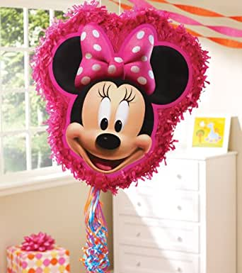 """Hallmark Unisex Adult Disney Minnie Mouse 18"""" Pull String Pinata Black Medium"""