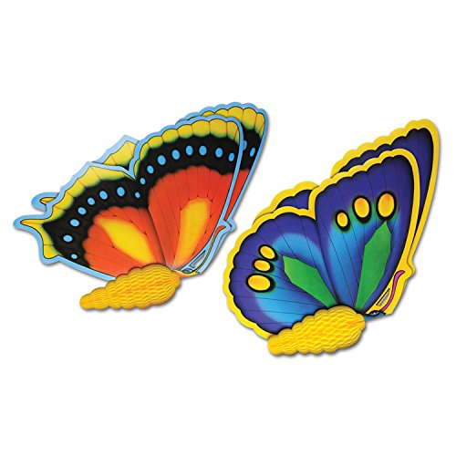 "Beistle Tissue Butterflies (2 Pack), 24"", Multicolor"