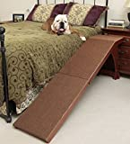 "Pet Supplies Solvit 25"" Bedside Cherry Finished Carpet Pet Dog Ramp"