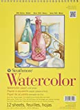 """Strathmore STR-360-9 12 Sheet Watercolor Spiral Pad, 9 by 12"""""""