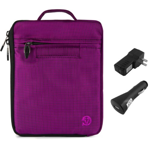 Lightweight Nylon Carrying Case For Kobo Arc 7 / 7HD 7-inch Tablet + Car USB Charger + Home USB Charger (Kobo Mini Case With Light compare prices)