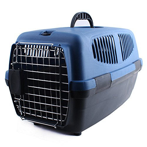 AZPet Cat Carrier Dog Carrier Pet Kennel Pet Taxi Fashion Carrier Airline Approved Cat Dog Travel Portable Kennel -Blue