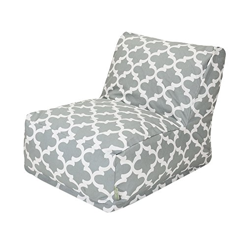 Majestic home goods trellis bean bag chair lounger gray for Home goods patio furniture cushions