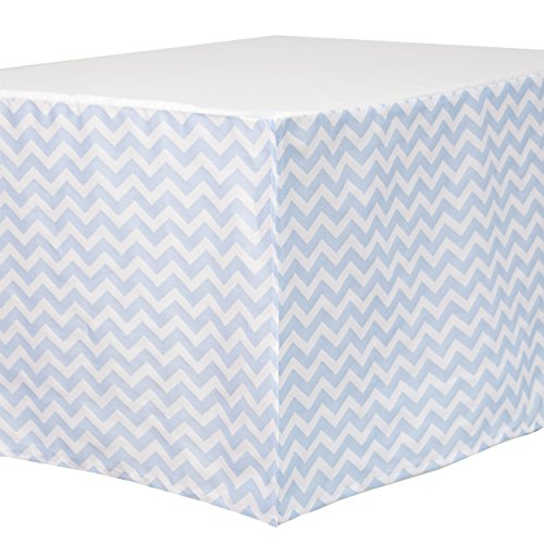 Carter's Zig Zag Crib Dust Ruffle, Blue