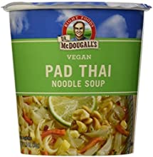 Dr McDougall39s Right Foods Vegan Pad Thai Noodle Soup Fresh Flavor 2-Ounce Cups Pack of 6  Value Bu