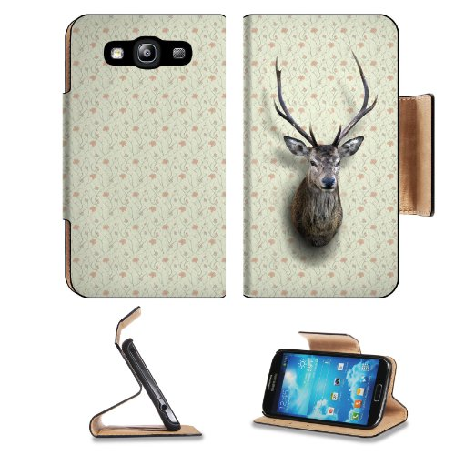 Pattern Sika Deer Samsung Galaxy S3 I9300 Flip Cover Case With Card Holder Customized Made To Order Support Ready Premium Deluxe Pu Leather 5 Inch (132Mm) X 2 11/16 Inch (68Mm) X 9/16 Inch (14Mm) Liil S Iii S 3 Professional Cases Accessories Open Camera H
