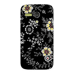 Stylish Classic Flower Back Case Cover for Moto G