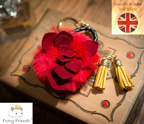 3-for-2-sale-fur-red-rose-keyring-hand-bag-charm-fashion-accessory-animal-fur-unique-gift-cute-key-c