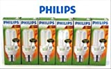 Philips Low Energy Saver Saving Light Bulbs Bayonet Cap BC 6 PACK x 11 Watt (equivalent of 60Watt light output)
