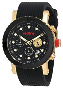 red line Men's RL-18102-YG-01 Compressor Chronograph Black Dial Watch