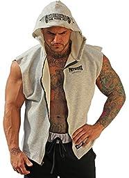 Physique Bodyware Mens Sleeveless Hoodie XXL Grey.