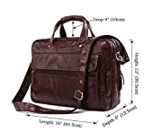 Mige Intl Men's Genuine Cow Leather Briefcase Coffee