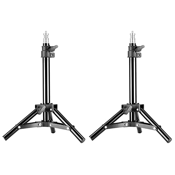 Neewer Mini Set of Two Aluminum Photography Back Light Stands with 32/80cm Max Height for Relfectors, Softboxes, Lights, Umbrellas, Backgrounds (Tamaño: 80cm)
