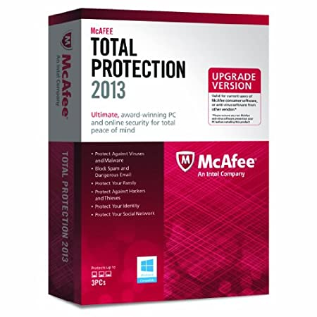 McAfee Total Protection 2013 Upgrade - 3 PCs, 12 month Subscription (PC)